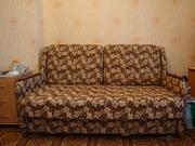 Диван-кровать коричнево-бежевый