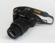 Фотоаппарат Nikon D3200 б/у в отличном состоянии. 4 объектива.