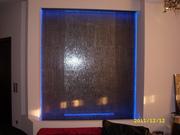 Водопады по стеклу и зеркалу  в Гомеле