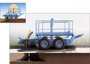 кабелеукладчик КУ-25 на пневмошинах