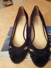 Туфли женские замшевые черные размер 36