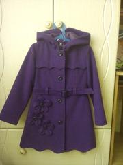 кашемировое пальто рост 128-134
