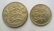 Старые эстонские монеты