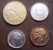 Старые бельгийские монеты