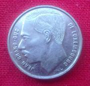 Монета люксембурга 1 франк 1991