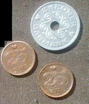 монеты Дании старые